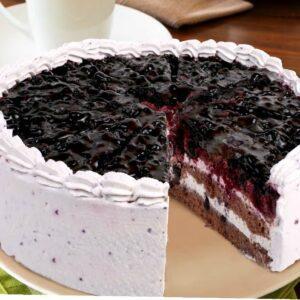 Heidelbeer-Sahne-Torte